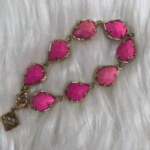 Kendra Scott Gold Brynn Bracelet in Magenta